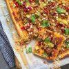 Plaattaart met spicy hummus en za'atar pulled chicken 2