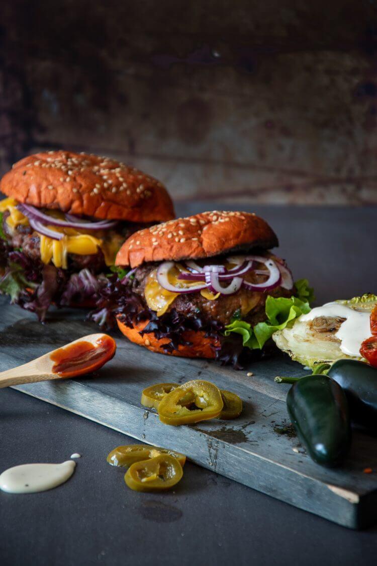 Jalapeno cheddar burgers bbq