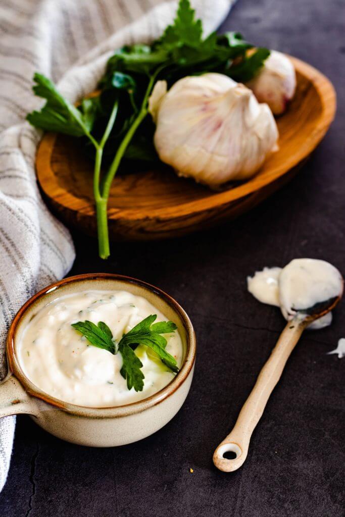 Recept voor Zelfgemaakte knoflooksaus
