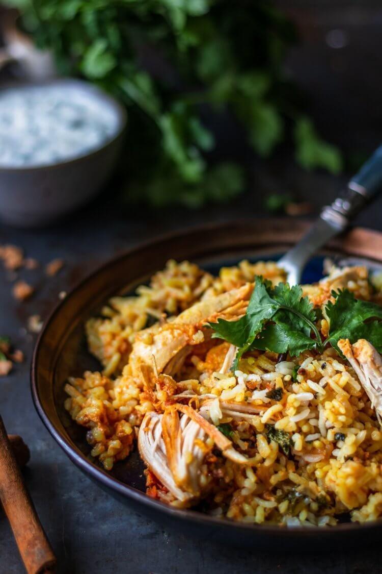 Recept voor makkelijke Kip Biryani uit the Curry Guy Easy