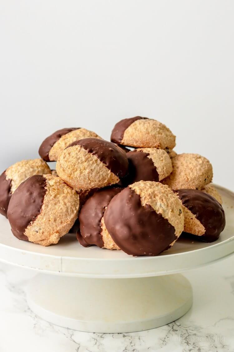 Recept voor kokosmakronen met chocolade